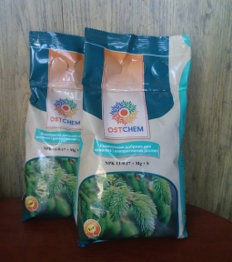 Комплексне добриво для хвойних і декоративних рослин, NPK 11:9:17+Mg+S, 1 кг